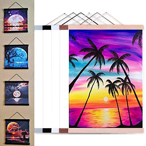 Diamond Painting Frames 30x40 -12'X16' Magnetic Poster Hanger Frame Wooden for...