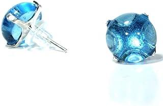 5dd34c67ff96 Joyeria para mujer - Arete de plata tipo broquel y vidrio brillante Gotland
