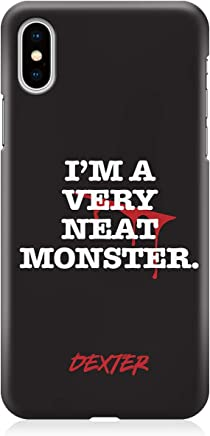 Loud Universe Neat Monster Dexter iPhone XS MAX Case Tv Show Netflix iPhone XS MAX Cover with 3d Wrap around Edges