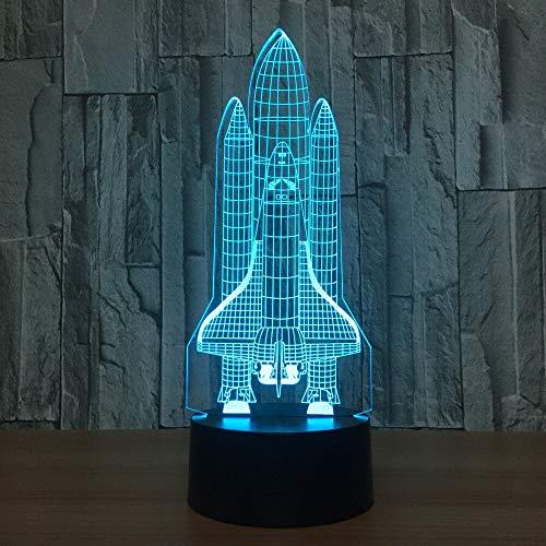 Raumschiff e 3D LED Nachtlicht USB Tischlampe Kinder Geburtstag Geschenk Nachtdekoration am Bett