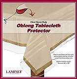 LAMINET Heavy Duty Deluxe Clear Vinyl Tablecloth Protector (60' x 108')