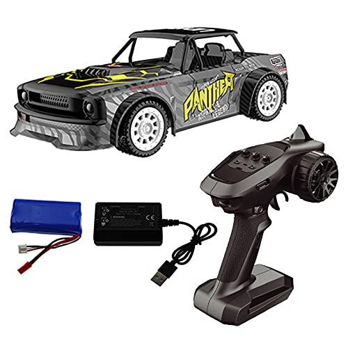 Coche teledirigido 1:18 2.4G 4WD RC Coche teledirigido 30 km/h de alta velocidad con luz LED, juguete RC para niños adolescentes adultos RC1602 una sola batería