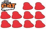 Fox Rage Cat Power Grip Bait Fins Red Köderstopper, Stopper für Welsköder, Baitstopper für Wallerköder wie Köderfische, Fischfetzen, Wurmbündel, Blutegel