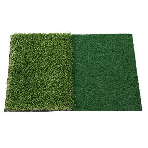 Wosune Colchoneta para Columpio de Golf, 2 en 1 Diseño de Almohadilla de césped Doble Ayuda de práctica de Golf para práctica de Golf para Jugadores de Golf para Juegos de Golf para Deportes al