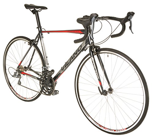 Vilano FORZA 4.0 Aluminum Integrated Shifters Road Bike, Black, 61cm/X-Large
