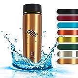 TAVIALO Mug Tazza Termica da Viaggio. Thermos Caffé Bottiglia Termica Design 460ml per Be...