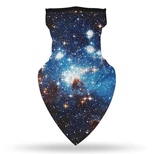 NAXIAOTIAO Reutilizable 3D Starry Sky Impresión Mask Multiuso Magic Plaeado de Cabeza Impreso Impresionado Pantalla Solar Transpirable Triangle Bufanda,5