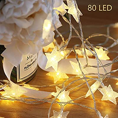 ODISTAR Natural LED String Lights, Ocean Real Conch Beach Themed Christmas Flexible Battery-Powered 10 ft 10 LEDs for Indoor, Outdoor,Birthday, Wedding,Summer Holiday