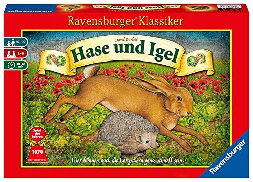 Ravensburger 26028 - Hase und Igel - Kinderspiel ab 10 Jahren, Strategiespiel für 2-6 Spieler, Ravensburger Klassiker