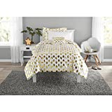 Mainstay Gold Dot Bed in a Bag Comforter Set,Twin/Twin XL