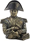 24,77 cm busto de bronce fundido Napoleón Bonaparte en frío