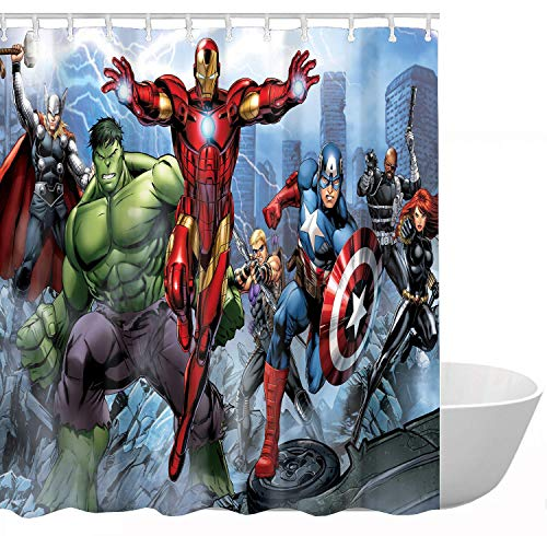 ClSCZLprints Funny Superhero Custom Shower Curtain,Waterproof Polyester Fabric Decorative Bathroom Bath Curtains 60 x 72 inches