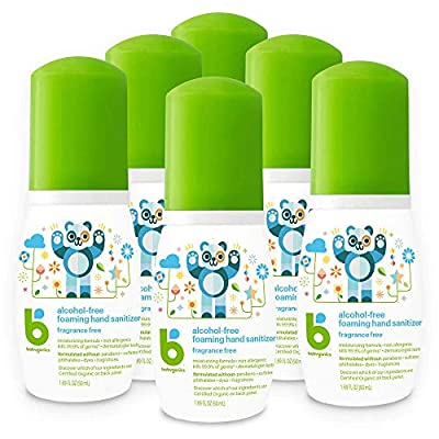 BabyGanics Alcohol Free Foaming Hand Sanitizer On-the-Go, Fragrance Free, Packaging May Vary