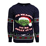 Official Star Wars Master Yoda Ugly Christmas Sweater for Men Or Women Blue by Numskull