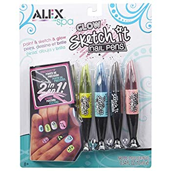 Alex Spa Glow Sketch It Nail Pens Girls Fashion Activity
