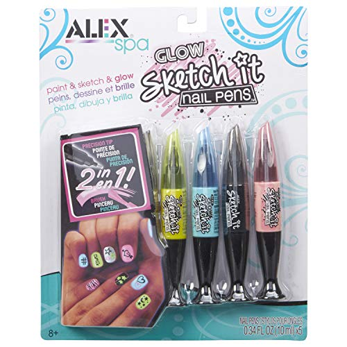 Alex Spa Glow Sketch It Nail Pens Girls Fashion Activity