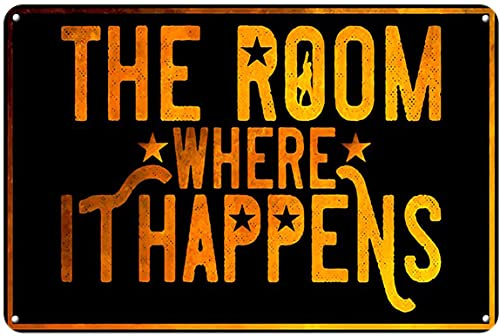 Graman Metal Tin Retro Sign - The Room Where it Happens Poster, Love Reading Poster, Vintage Home Decor, Wall Art Metal Vintage Tin Sign Wall Decor 12 x 8Inch