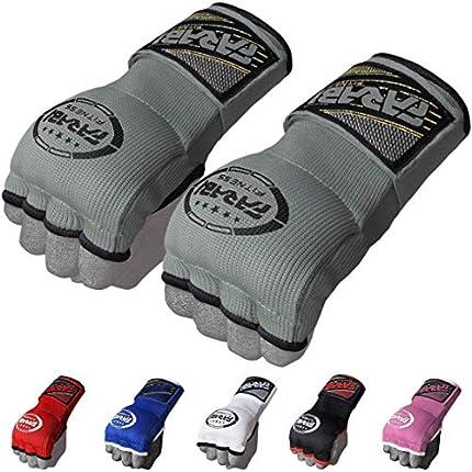 FARABI - Guantes de boxeo híbridos para niños, boxeo, artes marciales, artes marciales mixtas, muay thai, gimnasio, entrenamientos, guantes interiores de gel, guantes sin dedos, Júnior, gris