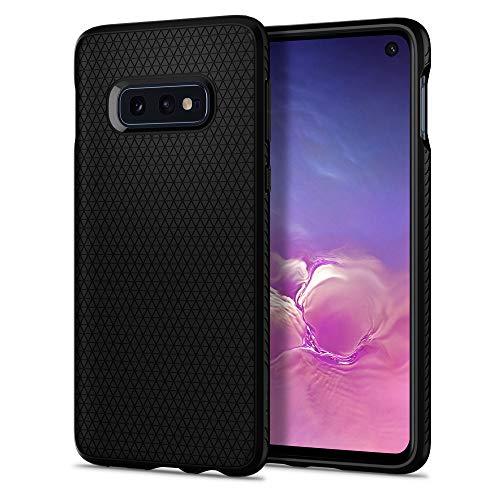 Spigen Funda Liquid Air Compatible con Samsung Galaxy S10E (2019), Flexión Duradero y Diseño de Fácil Agarre - Negro
