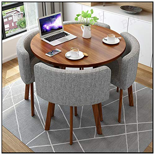 Matbord och stolar 4-pack, möbelkombination kök kaffe kontor fast food butik västerlig restaurang mjölktoladdare hotell hem vardagsrum studierum sovrum bibliotek