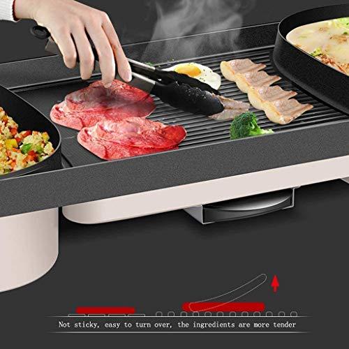 51MNs H32CL - CJTMY Multifunktions-Elektro Hot Pot, Aluminiumlegierung Haushalt Smokeless Antihaft-Grillfach