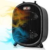 Duronic Portable Fan Heater FH2KW1 | 2 Heat Settings + Cool Fan Setting | 1200W / 2000W | 1.2kW / 2kW | For Floor or on a Desk or Table | Overheat Protection & Auto Shut Off Tip Over Safety Feature