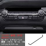 センター エアコンベント 調節 モール ステンレススチール ブラック 1枚 カバー リム「マツダ3 新型 BP系 2019.6- (Mazda3)」に対応 【DLIGHT】