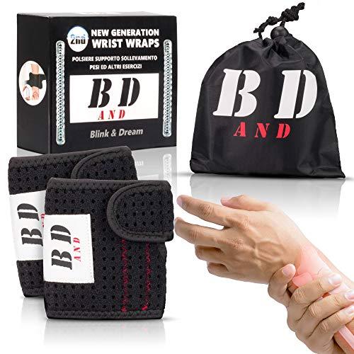 Blink&Dream® Zwei Neue Generation Handgelenk Bandagen Fitness für Handschuhe Boxen Bodybuilding Push up Booty Band Armband Bandage trainingshandschuhe Wrist Wraps zughilfen krafttraining bänder Sport