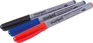 Caneta para CD, Maripel 9112-AZ, Azul, 2 mm, Pacote de 12