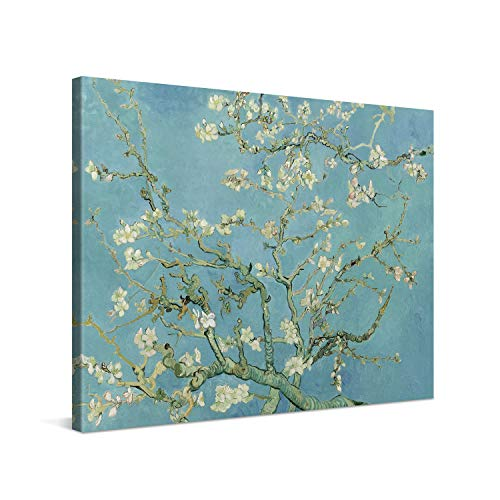 PICANOVA – Vincent Van Gogh Almond Blossom 100x75cm – Premium Leinwanddruck – Kunstdruck Auf 2cm Holz-Keilrahmen Für Schlaf- Und Wohnzimmer