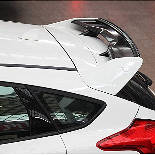 Alerón Trasero de la Tapa del Maletero del Coche para Ford Focus RS Hatchback 2012 2013 2014 2015 2016 2017 2018,ABS/Fibra de Carbono Car Rear Trunk Techo Spoiler Lip Wing Accesorios