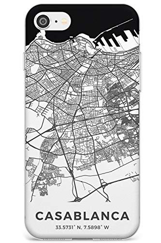 Mappa di Casablanca, in Marocco Slim Cover per iPhone 6 TPU Protettivo Phone Leggero con Viaggio Wanderlust Europa Città Strade