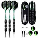 sanfeng Professional Soft Tip Darts Set 20 Grams W/ 50 O-Rings- 30 Darts Plastic Tip + Green...