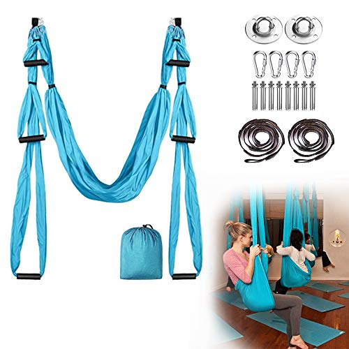 Best Review Of Quupero Flying Yoga Swing Aerial Yoga Hammock Trapeze Sling Inversion Tool Strong & D...