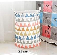 Laundry Basket Cotton Linen Dirty Clothes Basket Toy Debris Snack Storage Basket, Triangle 35 * 45Cm