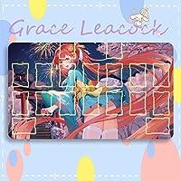 GraceLeacock カードゲームプレイマット 遊戯王 プレイマット Azur Lane アズールレーン Honolulu ホノルル アニメグッズ TCG万能 収納ケース付き アニメ 萌え カード枠あり (60cm * 35cm * 0.4cm)