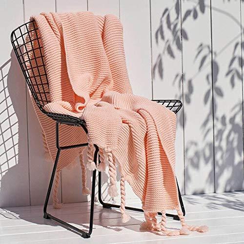 RAQ katoenen gebreide deken voor bed gooien deken met Travel Plaids bank sprei breien dekens voor slaapkamer 130x170cm