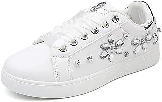Sneakers Moda Donna Primavera Autunno Low Top Platform Lace Up Scarpe Sportive Appartamenti Femminili Scarpe Casual Strass...