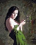 Diy 5D Diamond Painting Kit, Full Drill Nude Painter Woman Arts Craft Canvas Wall Decor, 17.7 X 23.6 Inch(Unframed)