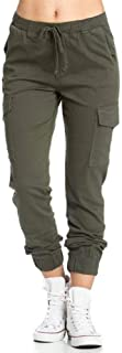 Women's Cargo Pants, Casual Drawstring Solid Color...