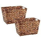 DII Hyacinth Collection Storage Baskets, Medium Set, Dark Brown, 2 Piece