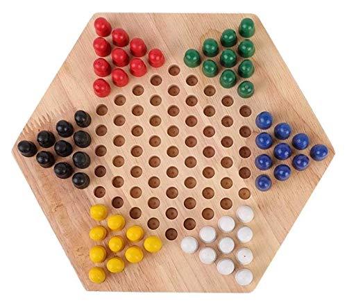 BJH Tablero de ajedrez Juego de Damas Chinas Tablero Educati