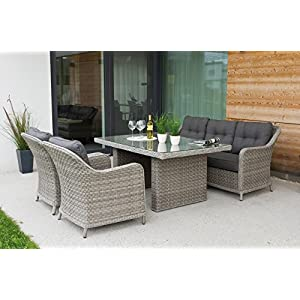 Haberkorn-Garten Edle Design ALU Rattan Sitzgruppe in and out Lounge Pelago bis 11 Personen