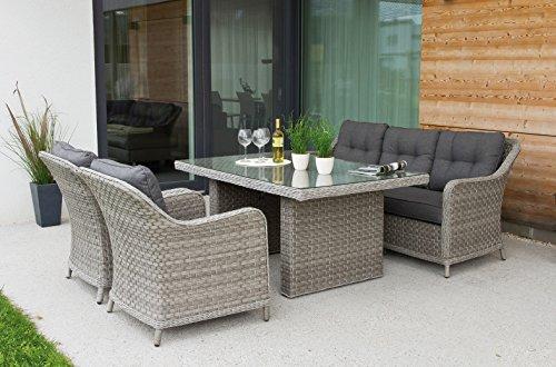 Haberkorn-Garten Edle Design ALU Rattan Sitzgruppe in and out Lounge Pelago bis 11 Personen