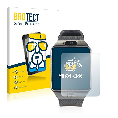 BROTECT Panzerglas Schutzfolie kompatibel mit Simvalley Mobile PW-430.mp PX-4057 - AirGlass, 9H Festigkeit, Anti-Fingerprint, HD-Clear