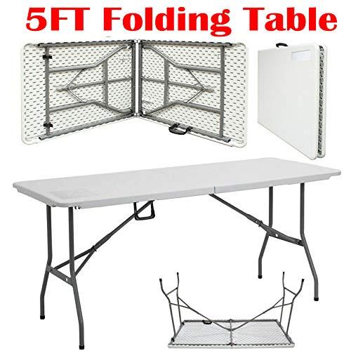 Mesa plegable al aire libre, jardín, picnic, camping, barbacoa, escritorio, 150 cm, resistente al agua, HDPE
