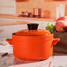 BGZC Solid casserole cooker stone pot bibimbap onion soup fried pan stewed pot with cover healthy pot, circular ceramic no...