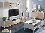 Miroytengo Conjunto Salon Comedor Estilo Moderno Mueble Modular Television Mesa Centro elevable...