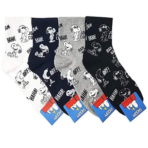 Die Peanuts Comics Charakter Snoopy Muster Mannschafts Socken 4 Paaren