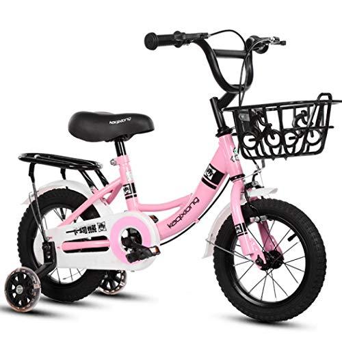 AYES Fahrrad für Kinder Jungen und Mädchen Kinderfahrrad mit Stützrädern (20 Zoll / 10,7 cm) Pink Blau